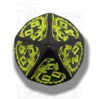 Q Workshop Dragon Black & Yellow Percentile Dice