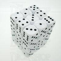 D&G Opaque White 36 x D6 Dice Set