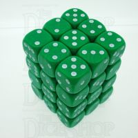D&G Opaque Green 36 x D6 Dice Set