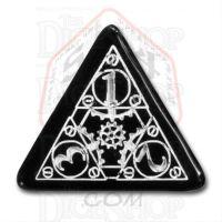 Q Workshop Steampunk Black & White D4 Dice