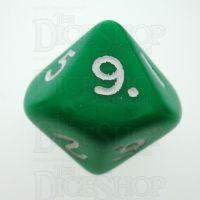 D&G Opaque Green D10 Dice