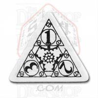 Q Workshop Steampunk White & Black D4 Dice