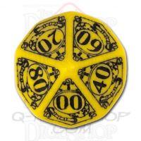 Q Workshop Steampunk Yellow & Black Percentile Dice