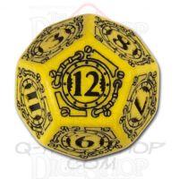 Q Workshop Steampunk Yellow & Black D12 Dice