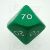 D&G Opaque Green Percentile Dice