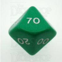D&G Opaque Green Percentile Dice