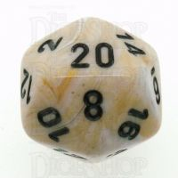 Chessex Marble Ivory & Black D20 Dice