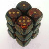 Chessex Scarab Blue Blood 12 x D6 Dice Set