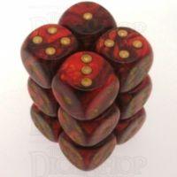 Chessex Scarab Scarlet 12 x D6 Dice Set
