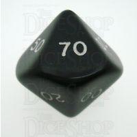 D&G Opaque Black Percentile Dice