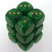 Chessex Vortex Green 12 x D6 Dice Set