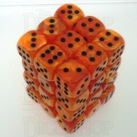 Chessex Vortex Orange & Black 36 x D6 Dice Set