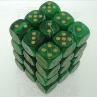 Chessex Vortex Green 36 x D6 Dice Set
