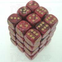Chessex Vortex Burgundy 36 x D6 Dice Set