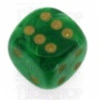 Chessex Vortex Green 16mm D6 Spot Dice