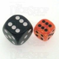 Chessex Vortex Orange & Black 12mm D6 Spot Dice