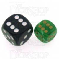 Chessex Vortex Green 12mm D6 Spot Dice