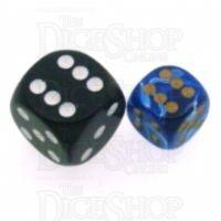 Chessex Vortex Blue 12mm D6 Spot Dice
