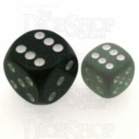 Chessex Frosted Smoke & White 12mm D6 Spot Dice - Discontinued