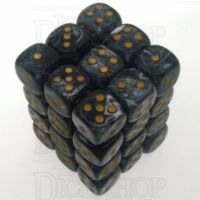 Chessex Lustrous Black 36 x D6 Dice Set