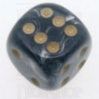 Chessex Lustrous Black 16mm D6 Spot Dice