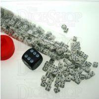 Koplow Opaque White & Black MINI 5mm 200 x D6 Spot Dice Set