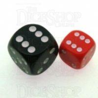 D&G Opaque Red 12mm D6 Spot Dice