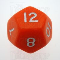 D&G Opaque Orange D12 Dice