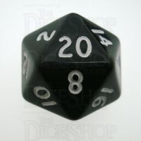 D&G Opaque Black D20 Dice