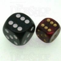 D&G Pearl Red & Gold 12mm D6 Spot Dice