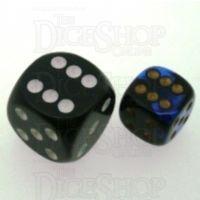 Chessex Gemini Black & Blue 12mm D6 Spot Dice