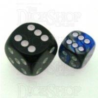 Chessex Gemini Blue & Steel 12mm D6 Spot Dice