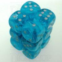 Chessex Cirrus Aqua 12 x D6 Dice Set