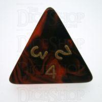 D&G Oblivion Red & Black D4 Dice