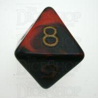D&G Oblivion Red & Black D8 Dice