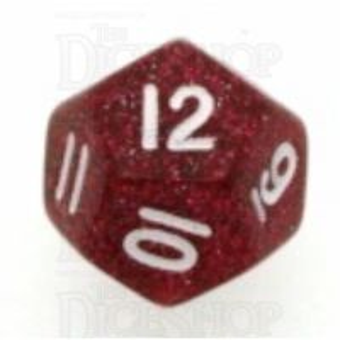 Koplow Glitter Red D12 Dice