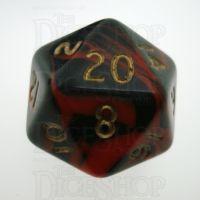 D&G Oblivion Red & Black D20 Dice