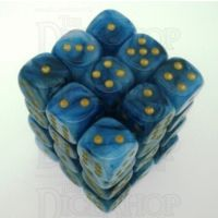 Chessex Phantom Teal 36 x D6 Dice Set