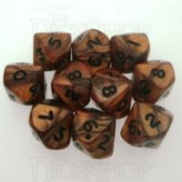 Koplow Olympic Bronze 10 x D10 Dice Set