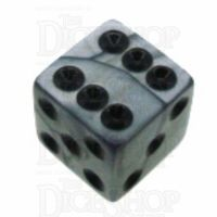 Koplow Olympic Silver Square Cornered 16mm D6 Spot Dice