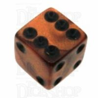 Koplow Olympic Bronze Square Cornered 16mm D6 Spot Dice
