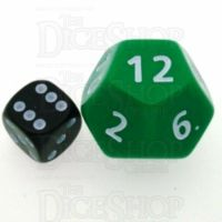 D&G Opaque Green JUMBO 34mm D12 Dice