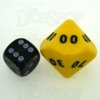 D&G Opaque Yellow JUMBO 34mm Percentile Dice