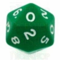 D&G Opaque Green D20 Dice - Numbered 0-9 x 2