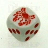 Koplow White & Orange Crab Logo D6 Spot Dice