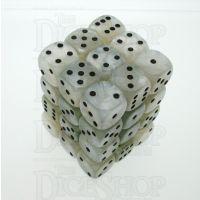 D&G Pearl White & Black 36 x D6 Dice Set