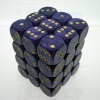 D&G Pearl Purple & Gold 36 x D6 Dice Set