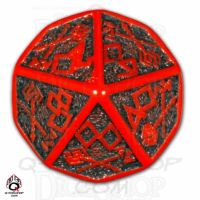 Q Workshop Dwarven Red & Black Percentile Dice