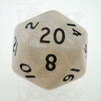 D&G Pearl White & Black D20 Dice