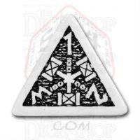 Q Workshop Dwarven White & Black D4 Dice